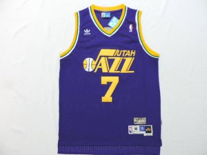2018 Online Cheap 7 NBA Pete Maravich Utah Jazz throwback purple ERK4123