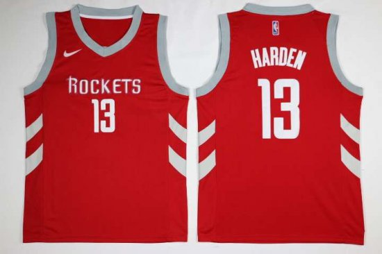 f5eb72f73 65% Off Houston Rockets Basketball  13 James Harden Red Mens Nike Swingman  FRA1884