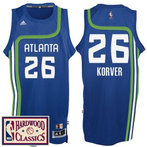 Activities in sales Atlanta Hawks #26 Kyle Basketball Korver 2016 17 Season Royal Hardwood Classics Throwback Swingman RQM357