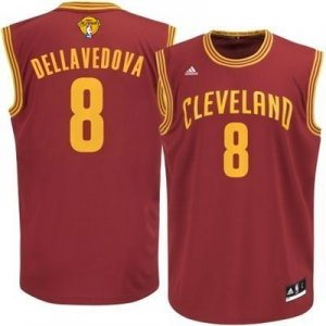Authentic Cleveland Cavaliers #8 Matthew Dellavedova 2016 The Finals Jerseys Patch Red YDB300