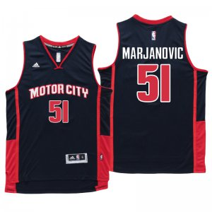 Authentic Detroit Pistons #51 Boban Marjanovic Jersey Motor City Navy Blue Swingman CZT1378