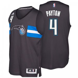 Authentic Orlando Magic #4 Elfrid Payton 2016 Clothing 17 Star Alternate Black Swingman GHO3142