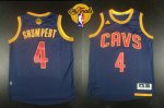 Best Revolution 30 Cavaliers #4 Iman Shumpert Navy Apparel Blue CavFanatic The Finals Patch PQG1085