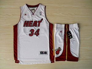 Best Revolution 30 Shorts Miami Heat Basketball #34 Ray Allen Swingman White Home Rev Basketball Suits NAU4521