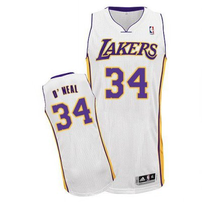 Buy Authentic NBA White Los Angeles Lakers 34 O'neal Alternate FLP2424