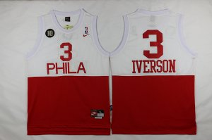 Buy Cheap Philadelphia 76ers #3 Iverson White Red 2016 The Basketball Season EIP3263