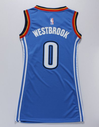 Buy Women Oklahoma City Thunder 0 WESTBROOK blue dress Merchandise RZD4257