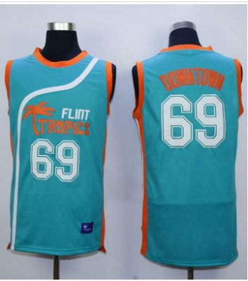 Cheap Buy Online Flint Tropics #69 Downtown Blue Semi Gear Pro Movie Stitched Basketball VAY1458