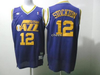 Cheap Buy Online Throwback Utah Jersey Jazz #12 stockton purple XKN4127