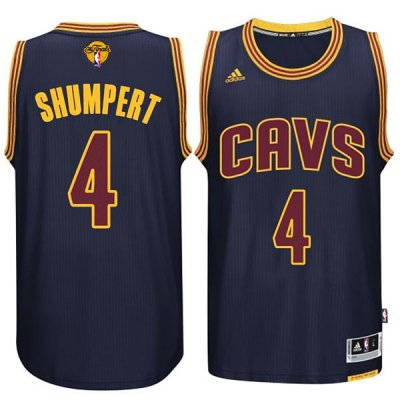 Cheap Cleveland Cavaliers #4 Iman Shumpert 2015 Merchandise 16 Finals Navy Blue XCX284