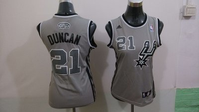 Cheap Women San Antonio Spurs 21 Tim Basketball Duncan Grey Revolution 30 Swingman TYP4349