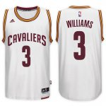 Durable Cleveland Cavaliers #3 Derrick Williams 2016 17 Home Basketball White Swingman RJC1025