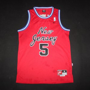 Exactly Fit Jerseys Kidd Nets #5 red LEZ565