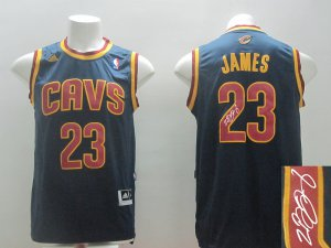 Exquisite appearance Autographed Cleveland Cavaliers Merchandise #23 James blue ATV3386
