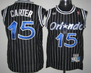 Exquisite appearance Orlando Magic #15 Vince Carter Black Hardwood Classics Soul Gear Swingman Throwback TWF3181