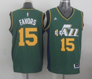 Fashion Mens Utah Jazz Derrick Jersey Favors green 2014 15 Swingman Road NFK4130