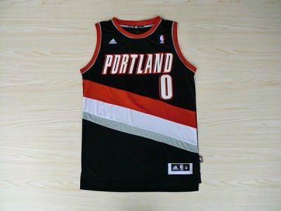 For Sale Portland Jerseys Blazers Aldridge #0 Black TTD3482