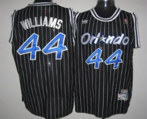 Good work Orlando Magic #44 Jason Williams Black Hardwood Classics Soul Basketball Swingman Throwback NIN3187
