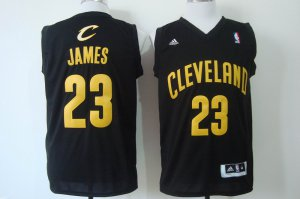 Hot 2018 Cleveland Cavaliers 23 Lebron James Revolution Jersey 30 Swingman Black VYX1196