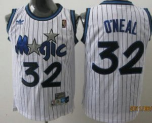 Hot Orlando Magic #32 Shaquille O'neal White Hardwood Classics NBA Soul Swingman Throwback MTJ3186