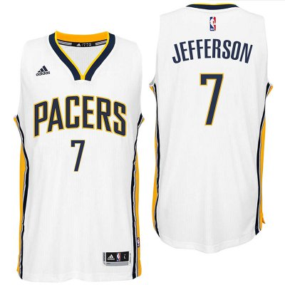 Hot Sale Indiana Pacers #7 Al Jefferson 2016 Apparel Home White Swingman YIB2003