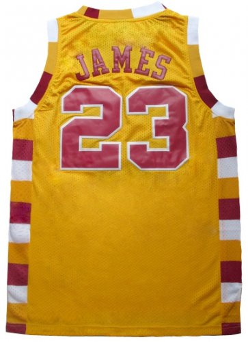 Hot Sale Lebro James Gear throwback retro yellow GHG1163