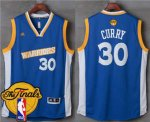 Hot Warriors #30 Stephen Curry Royal Stretch Crossover The Clothing Finals Patch Stitched UAR1851