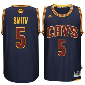 Lowest Price Cleveland Cavaliers #5 JR Smith 2015 16 Finals Navy NBA Blue WEV292