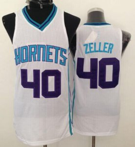 On Sale Revolution 30 Jerseys Hornets #40 Cody Zeller White Stitched RXS653