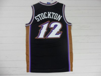 Online 2018 Utah Jazz Basketball 12 STOCKTON Purple throwback KQM4146