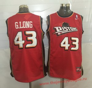 Online Cheap Detroit Pistons #43 Grant Merchandise Long Red Hardwood Classics Soul Swingman Throwback OWZ1390