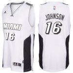 Online Cheap Miami Heat #16 Apparel James Johnson White Tie Swingman WBE2608