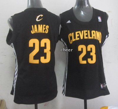 Online women Cleveland Cavaliers #23 James Jerseys black CNR4323