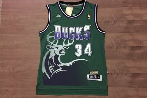 Originals Apparel Milwaukee Bucks Ray Allen bucks rev 34 green QED2830