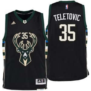 Precise size Milwaukee Bucks Mirza Teletovic 2016 Alternate Black Clothing Swingman MIT2815