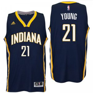 Promotional sale Indiana Pacers #21 Thaddeus Young 2016 Road Jersey Navy Swingman VJO1994