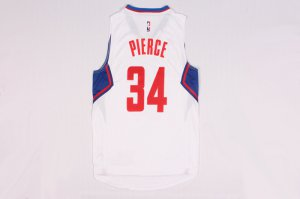 Shop Cheap Los Angeles Clippers 34 Paul Pierce Apparel white MHL2297