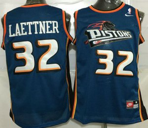 Spring Latest Pistons #32 Merchandise Christian Laettner Blue Throwback Stitched DCK1414