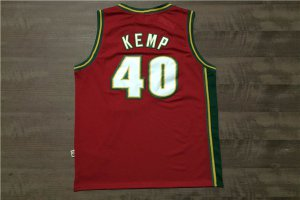 Spring Latest Seattle SuperSonics #40 Gear Kemp Sonics Rev 30 red SEB3804