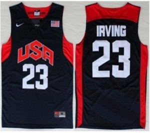 Tailored USA Basketball 23 Kyrie Irving Jersey Blue WBX4092