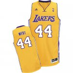 The Latest Los Angeles Lakers #44 Swingman Jerry Apparel West Men's Gold MWC2376