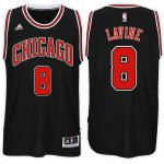 Unique design Chicago Apparel Bulls #8 Zach LaVine 2017 18 Alternate Black Swingman SQZ666