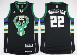 absorbent Milwaukee Bucks #22 Khris Middleton Revolution 30 Gear Swingman 2015 16 Black GUN2825