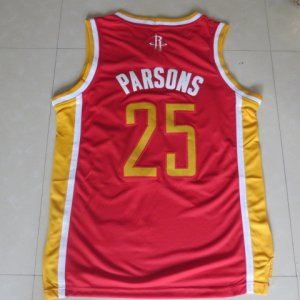 100% Hight Quality Parsons Houston Rockets retro 25 red Gear FUP1938