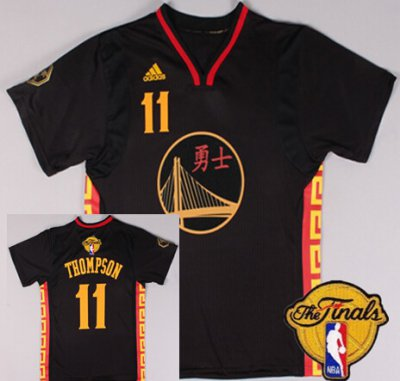 Assorted colors Golden State Warriors #11 Klay Thompson Chinese Black 2016 The Finals Merchandise Patch MDJ5