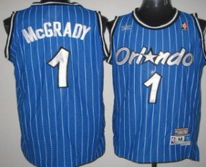 Authentic Orlando Magic #1 Tracy McGrady Blue Hardwood Clothing Classics Soul Swingman Throwback VLY3173