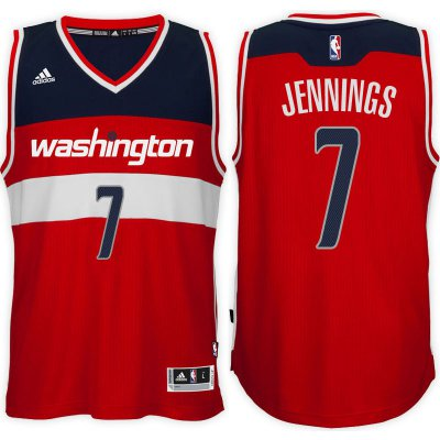 Authentic Washington Wizards #7 Clothing Brandon Jennings 2016 17 Road Red Swingman ONK4184