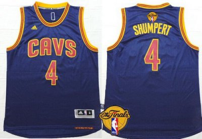 Buy Online Cheap Cleveland Cavaliers #4 Iman Shumpert 2016 The Finals Patch Navy Apparel Blue HBF287