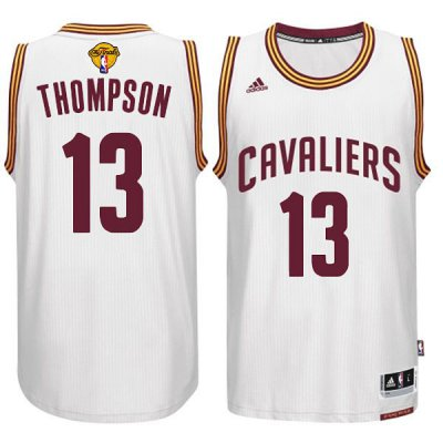 Cheap New Style Cleveland Cavaliers #13 Tristan Thompson 2015 16 Jersey Finals White PLF263