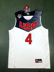 Cheap Online Sale Stephen Curry 2014 FIBA Basketball World Cup team white color Gear MXU4069